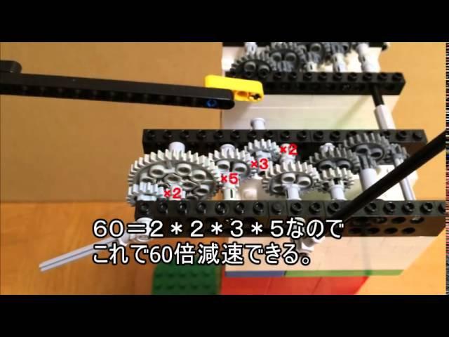 レゴで振り子時計からトゥールビヨンまで作った。Made a pendulum clock and tourbillon with LEGO bricks
