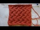 Рельефный узор с иммитацией косички Вязание спицами Видеоурок 206