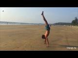 Hand stand, Shanty Kungfu, Slow motion, India, Goa, 2017-2018