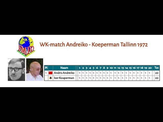 WK-match Andreiko - Koeperman Tallinn 1972