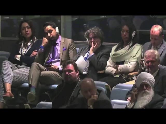 Ли Стоункинг свидетельствует в ООН о Божьем чуде воскрешения (Lee Stoneking address at the UN)