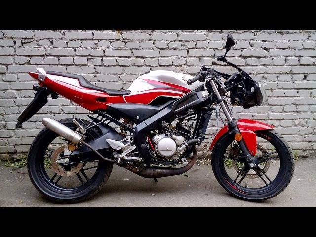 Проверка мотоцикла Yamaha TZR 50 после ремонта