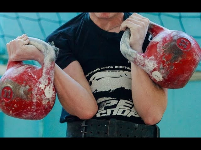 Гиревой спорт Толчок движение рук при Выталкивании Сброс