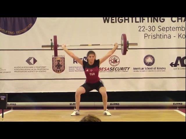 Women U15 69kg 2017 EUROPEAN WEIGHTLIFTING CHAMPIONSHIPS U15 U17