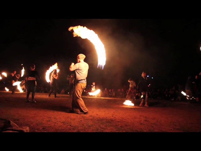 Rope Dart Fire Spinning, Fire Drums 2017