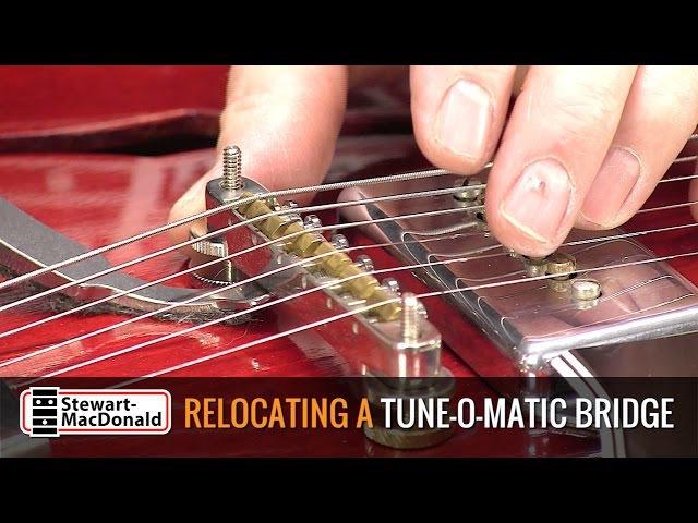 Relocating a Tune-O-Matic bridge