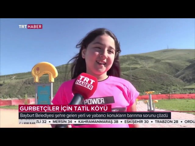 Bayburt'un ilk tatil köyü TRT Haber'de