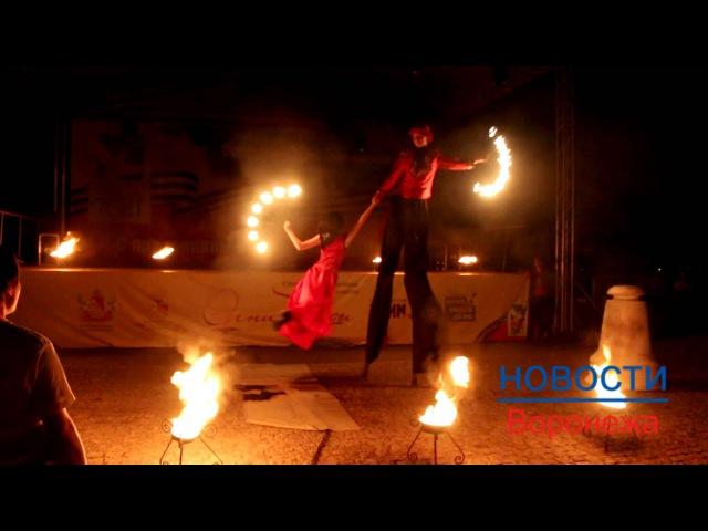 Лучшие выступления фаерщиков на фестивале «Огни Победы» в Воронеже 9 мая 2015 года