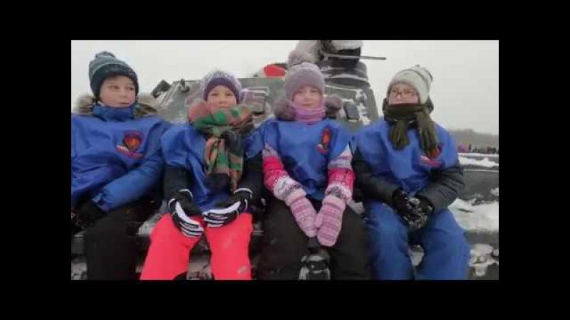 Юные волонтеры на реконструкции прорыва блокады Ленинграда 2018 г