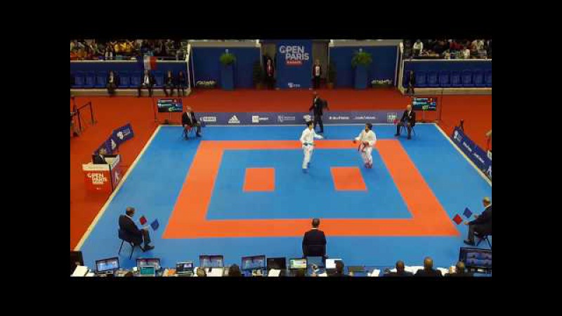 Paris Karate Open 2018 - Kumite Final - Rafael Aghayev vs Ken Nishimura