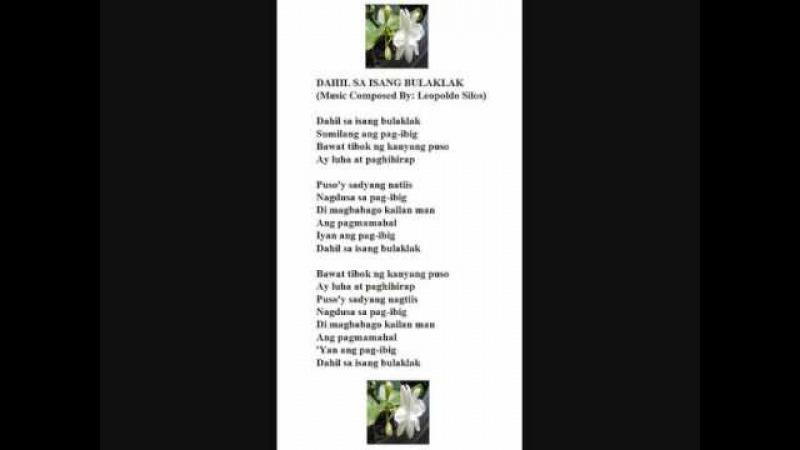 Dahil Sa Isang Bulaklak LEOPOLDO SILOS original composer and pianist
