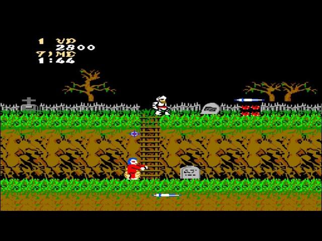 Ghosts n Goblins Денди - Прохождение (Призраки и гоблины Dendy, NES - Walkthrough)