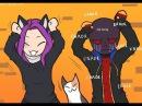 Комикс Undertale  ASK Эррора и его котика :3  (часть 2)