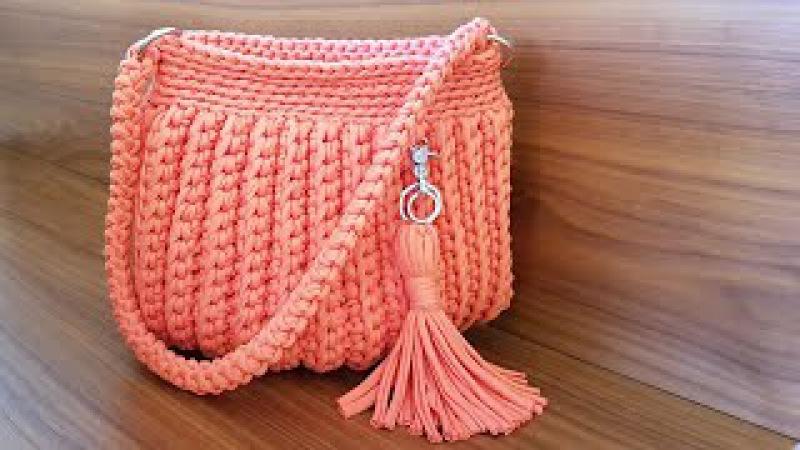 Como Fazer Uma Bolsa Com Fio de Malha - Tutorial de Crochê