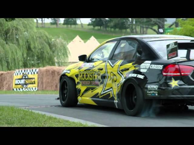 Rockstar Energy VW Passat drifts epic driveway in New Zealand Leadfoot Festival