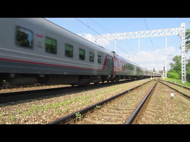 Электровоз ЭП20-034 с поездом№737А Москва-Брянск станция Нара 30.06.2017