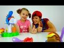 МОРОЖЕНОЕ. Пластилин, Маша и Ксюша. Видео для детей. Как сделать мороженое  из пластилина