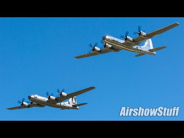 Bomber Parade B 2 B 1 B 52 B 29 B 17 B 25 Formation Flybys EAA AirVenture Oshkosh 2017