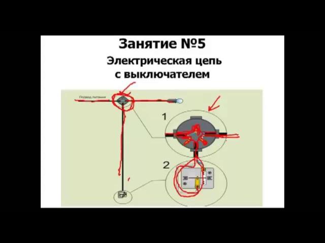 Как подключить одноклавишный выключатель Курс Электрика своими руками ч5 rfr gjlrk.xbnm jlyjrkfdbiys