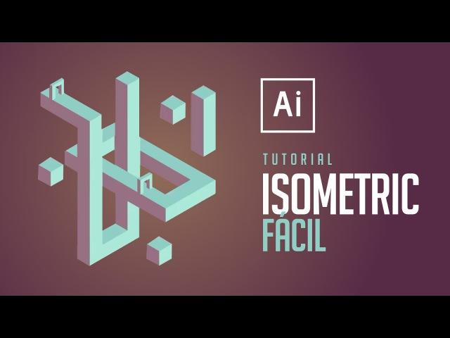 Illustrator - Isometric 3D (Fácil)