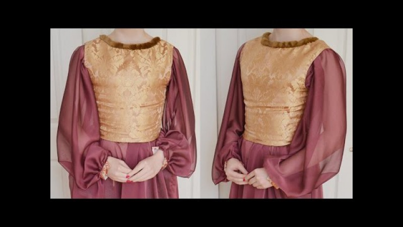 Making a Bodice Medieval Dress Part One