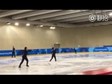 Wenjing Sui Cong Han practice LP 02_18_2018 Winter Olympic 2018