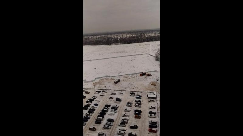 Складирование снега собранного с дворовой зоны