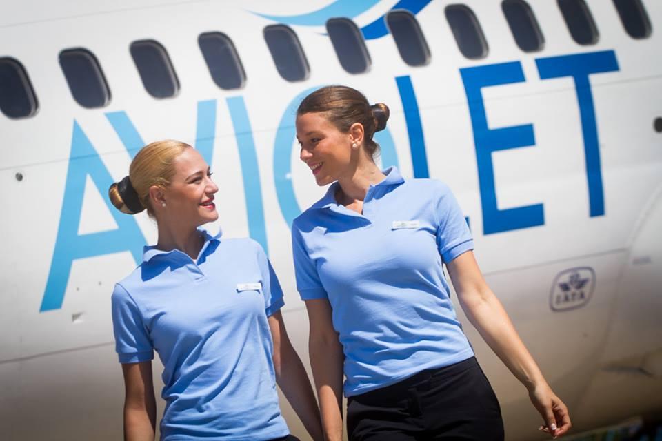 Стюардессы компании Aviolet