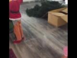 Ляйсан Утяшева наряжает елку.