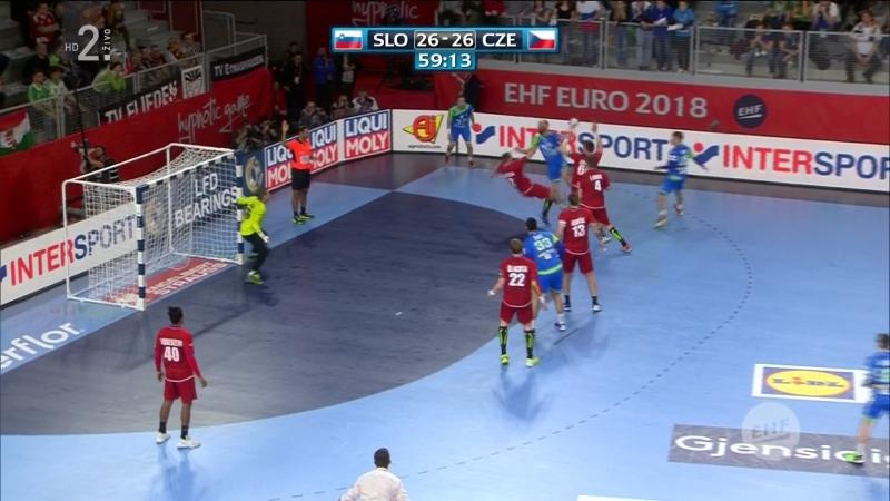 Slovenija - Ceska 26-26, posljednja minuta, izjava V. Vujovica (EURO CROATIA 2018), 24.01.2018. Full HD