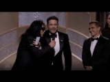 James Franco And Tommy Wiseau At The Golden Globes