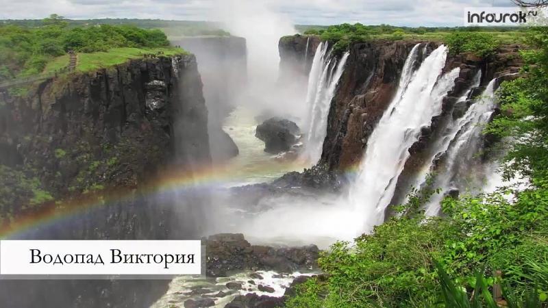Африка. Внутренние воды реки, озера, водопады