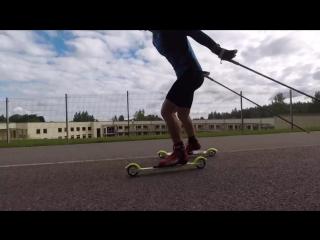 Тренировка сборной России по лыжным гонкам. 2017, Отепя, Эстония