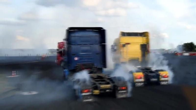 БольшеЖогова, Драг-рейсинг, burnout и гонки на грузовиках.