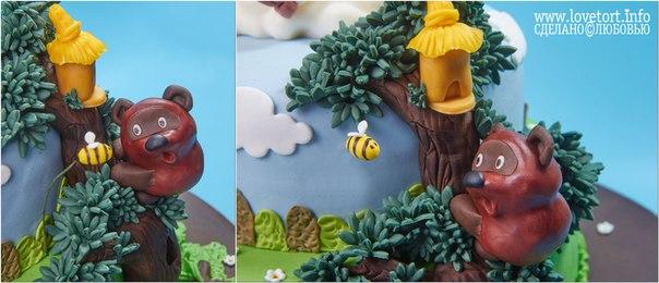 Торт с героями союзмультфильма, Винни-Пух cake