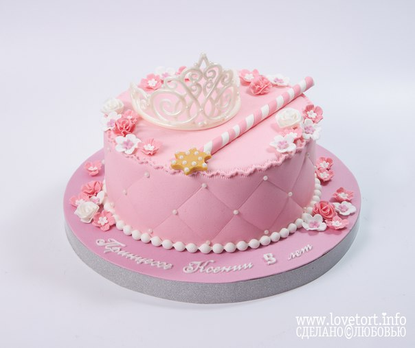 Торт с короной принцессы cake