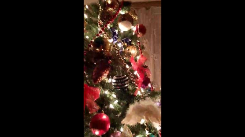 С Рождеством, мои любимые близкие и родные, друзья и все знакомые)💞💕💖Три ангелочка на ёлке рядом, не сговариваясь, чудеса👑💋💗💫