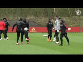 First-team training