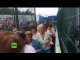 Ukraine feiert Visafreiheit in die EU Hunderte Menschen drängen sich über Grenzübergang nach Polen