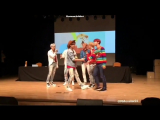 BTS CUTE  FUNNY MOMENTS AT MYEONGDONG - SINCHON FANSIGN [170930]