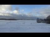 7 января 2018 года - Семиянварская пурга на фоне Видимирского озера