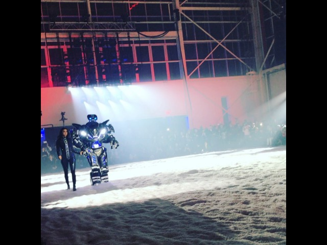 "Suzy Menkes on Instagram: ""UFO overhead, snowstorm blowing, robot on speed - it MUST be Philipp Plein"""