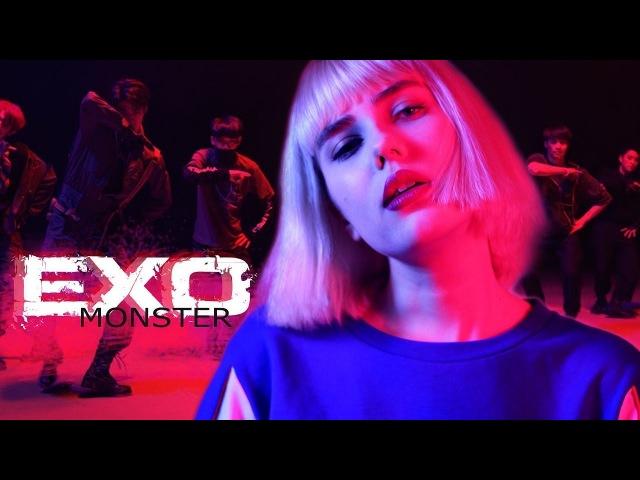 транслейт EXO 엑소 - MONSTER (Russian Cover || На русском)