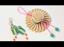 How to make a 3D macrame hat-Easy macrame tutorial key chain - Hướng dẫn thắt móc khóa mũ rơm Luffy