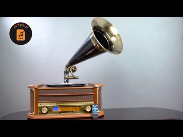 CAMRY CR 1160 Turntable with tube / Gramfon z tubą