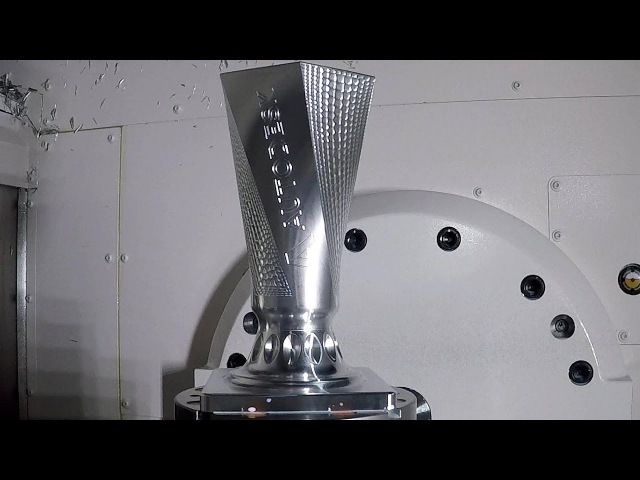 PowerMill 5-Axis Vase Machining on Okuma MU4000V