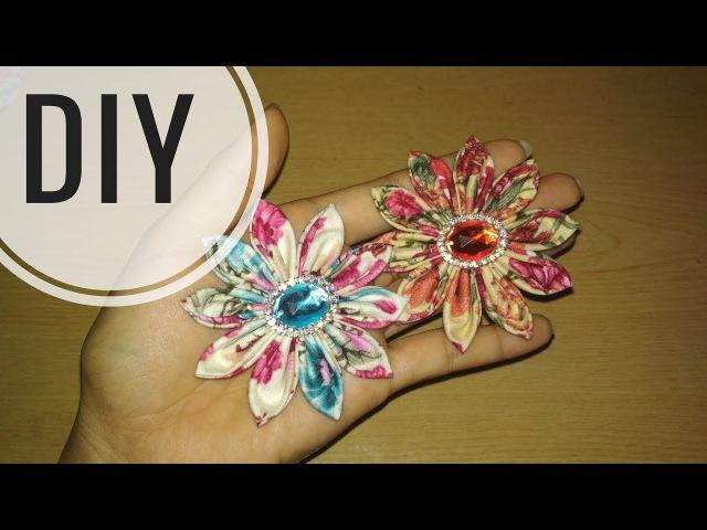 DIY || Cara membuat bros bunga dari kain perca katun / batik || Easy Tutorial Fabric Flower