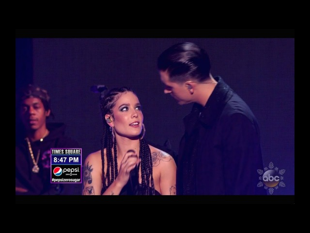 Halsey and G-Eazy - Him and I - Best Quality - New Year's Rockin' Eve with Ryan Seacrest 2018
