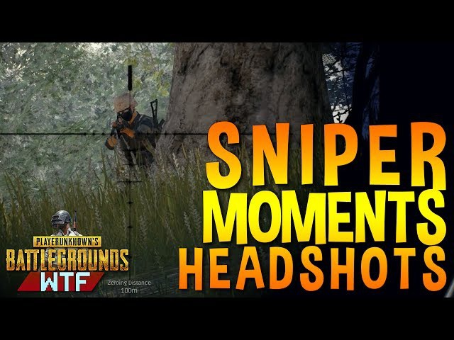 PLAYERUNKNOWN'S BATTLEGROUNDS BEST SNIPE HEADSHOTS Funny Moments (PUBG)