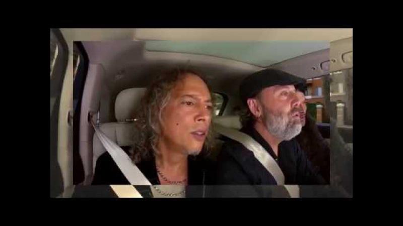 Metallica singing Rihanna's Diamonds in Carpool Karaoke!